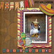 Donald Duck EPCOT Mexico pavilion