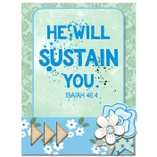 Pocket Cart Bible Verse He will Sustain You