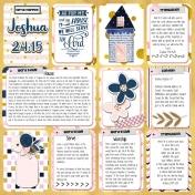 Pocket Bible Journal Page Joshua 24:15