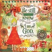 Bible Journaling Mixed Media Psalm 46:10