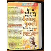 Bible Journaling Let us Not Grow Weary in Doing Good