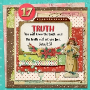 December Daily Faith Dex Card Titles Of Christ: Truth