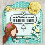 Who I am in Christ Memory Dex Card Day 15: Overcomer