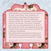 Redeeming Love Memory Dex Cards Day 1 (Back of Card)