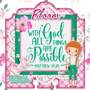 Memory Dex Card: With God All Things Are Possible