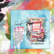 Discovery of Hidden Things Bible journal Page (Art Journal Challenge)