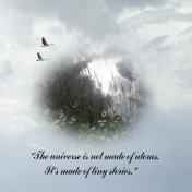 """The universe is not made of atoms. It's made of tiny stories."" If I could Fly."