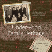 Underwood Family Heritage title page
