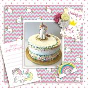 Unicorn Love Baby Shower Cake