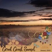 Coral Coast Sunset