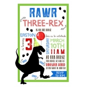 Three-Rex Invitation