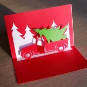 Christmas Truck pop-up card
