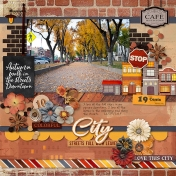 City Streets Full With Leaves