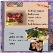 November 20 Veggies