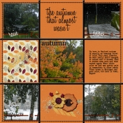 the autumn that almost wasn't