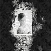 Bride Black Background
