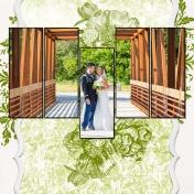 Bridal Couple on Bridge