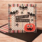 Batty card with matching envie