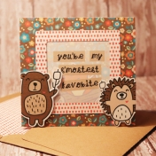 Friends card with matching envie