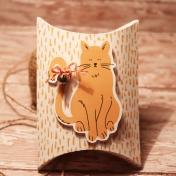Kitty Cat Pillow Pouch Gift Box