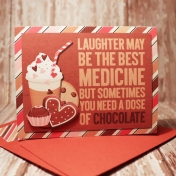 Chocolate card with matching envie