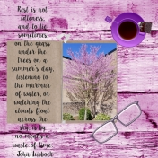 Pick-A-Color Purple Tree Journal Scrapbook Layout