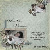I Became a Mother