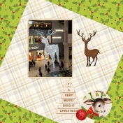 Reindeer at Eaton Centre 2018