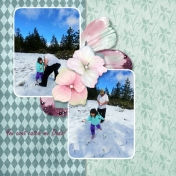Snow Day in May, my first digital layout