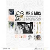 Mr & Mrs- July Template freebie 2019