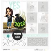 January 2021 Template | Sahlin Studio