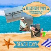 Beach day layout