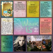 Project Life ~ Week 15, Left Side