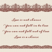 Love is not chance