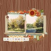 September Calendar Topper