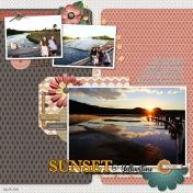 Sunset at Yellowstone- MK