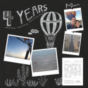 Hot Air Balloon 4th Anniversary L