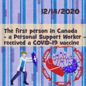 Journal- first person in Canada to receive COVID vaccine