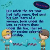 bible journaling- adoption