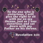 Bible journaling- sit with me on my Father's throne