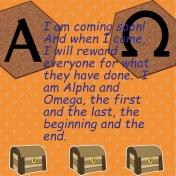 Bible journaling- Alpha and Omeg