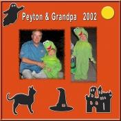 Happy Halloween 1- Peyton with Grandpa