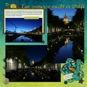 A summer night in Delft