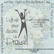 Lift up your hearts in praise
