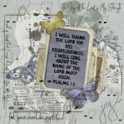 Psalms 7:17 I will sing about the Lord most high