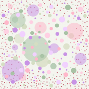 2021 October challenge, page with polka dot pattern