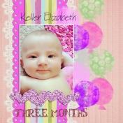 Keller Elizabeth, three months