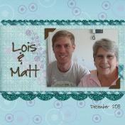 Matt & Mum- December 2013