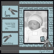Project: Scraplift (Myself) Ashton Baby Book, Title Page (Digital)