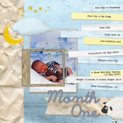 Ashton Baby Book 2005: Month One, Page 1